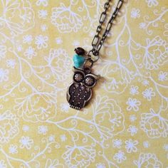 Pretty NEW Owl Necklace in my shop!