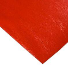 PVC Tapicería Safari Rojo - Esta colección de telas de PVC imitación piel viene en diez colores y es perfecta para forrar objetos, tapizar o confeccionar álbumes de fotos, para ropa. #MWMaterialsWorld #red #rojo #tela  #manualidades #confeccion