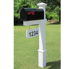 4EverProducts Mailbox with Post Included & Reviews | Wayfair Mailbox Makeover, Diy Mailbox, Mailbox Post, Mailbox Ideas, Black Mailbox, Mailbox Garden, Mailbox Numbers, Modern Mailbox, Address Numbers