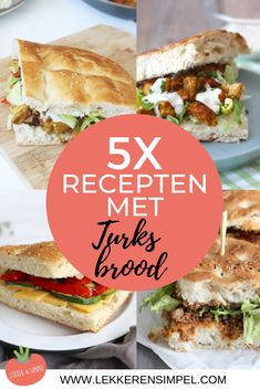 5x recepten met turks brood A Food, Good Food, Food And Drink, Yummy Food, Shawarma, Low Budget Meals, Lunch Wraps, Food Porn, Wrap Sandwiches