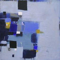 "Soft Sky 807  48"" x 48"" work on canvas  ©2013 Deborah T. Colter"