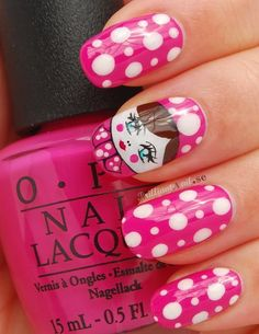 I like the dots and the pink but not the face  My version of Matryoshka :)  http://brilliantnail.se/nagel-blogg