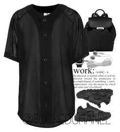 • Je suis un 다크팬더 • by fuckedchanel on Polyvore featuring The Ragged Priest, NIKE, Alexander Wang and adidas Originals