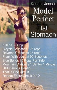 Kendall Jenner Ab Workout