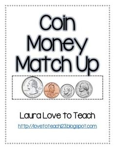 This freebie includes printable money matching 24 cards for children to play and learn to count coins. Make math fun and have your kiddos stay engaged *Laminate for durability* 2nd Grade Activities, 1st Grade Math, Kindergarten Math, Third Grade, Teaching Money, Teaching Math, Teaching Ideas, Math School, Pre School