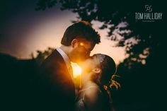 Vintage sunset kiss - Country wedding photography - tom halliday photography - uk wedding photography - landscape photography - night time photography – sky photography – bridesmaid photography – groomsmen photography – fairy lights – cigars – campervan – night time photography – star photography
