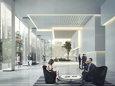 Offices Lobby - Shanghai, KPF Office Entrance, Office Lobby, Lobby Lounge, Hotel Lobby, Lobby Interior, Interior Architecture, Lobby Reception, Lobby Design, Lobbies