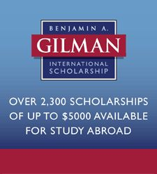 Learn more about Gilman scholarships for study abroad.