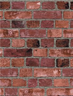 Totally want a fake brick wall in my bedroom (that is since I assume I won't have a real one)
