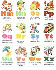 vintage flashcards 1955 alphabet