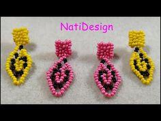 ARETES MIMOSA ESTILO HUICHOL - YouTube Crochet Earrings, Jewelry, Youtube, Fashion, Ear Rings, Beading, How To Make, Stud Earrings, Jewels