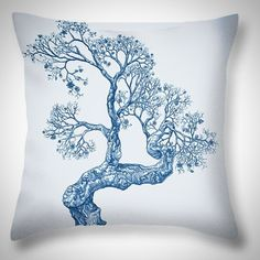 'Tree 14 Blue 1' available as a pillow by Brian William Kirchner Art. Available now at http://brian-kirchner.artistwebsites.com