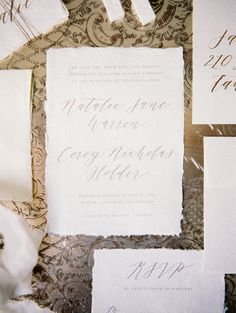 Photography: Winsome and Wright - winsomeandwright.com/ Calligraphy: Michaela McBride Calligraphy - http://www.michaelamcbridecalligraphy.com/   Read More on SMP: http://stylemepretty.com/vault/gallery/58477