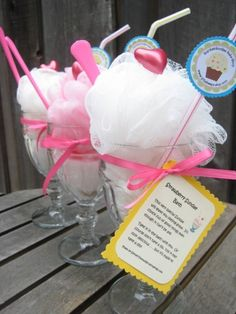 """I don't have little girls but how cute is this this for a """"spa"""" gift or party favor???"""