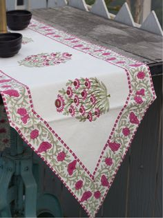 Table linen,table cloth,table mats,table napkins,block printed,cotton,dining table runner,ethnic print,India gift.Table decor,place mats.