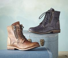 Tactic Boots - An intense, washed and distressed look gives these leather BedStü boots the feeling of history.