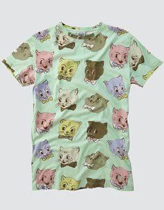 Mint Cat Tee l Drop Dead Clothing