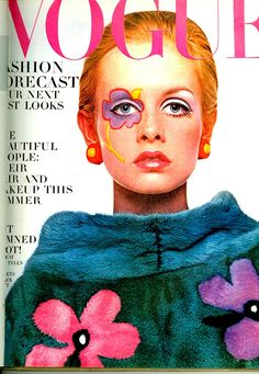 1967 Vogue Cover. Flower Power by Twiggy. E x