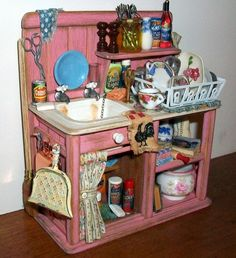 Marquis Miniatures - Rustic Realism: Shabby Chic Sink