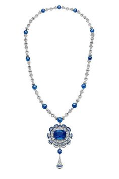 Sapphire, diamond and white gold necklace from the Bulgari Bvlgari Diva collection