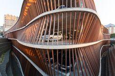 Parking Garage Cliniques Universitaires Saint-Luc / de Jong Gortemaker Algra + Modulo architects, © Lieven van Landschoot