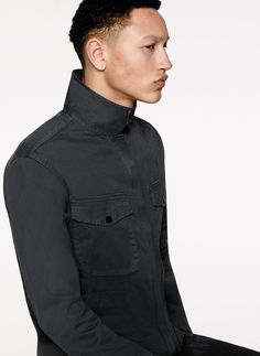 6515 Stone Island_ AW '016 '017_ 115LN_ Over shirt in stretch cotton broken twill. Garment dyed. stoneisland.com