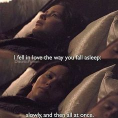 Katniss falling for Peeta Hunger Games Fandom, Hunger Games Catching Fire, Hunger Games Trilogy, Katniss And Peeta, Katniss Everdeen, Josh And Jennifer, Fandom Crossover, Game Quotes, The Fault In Our Stars