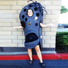 Yep, this girl actually dressed up as a croc  for Halloween (and she's wearing crocs, too!