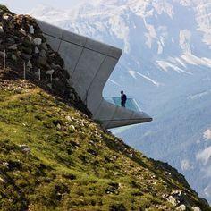 Zaha Hadid's award-winning designs: Messner Mountain Museum, Mount Kronplatz #architecture