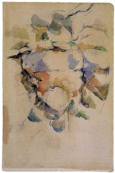 Paul Cézanne - Rocks near the grottoes above the Château Noir