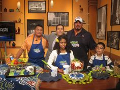 Student Ambassadors Alejandro and Angelique cooked a delicious meal with Chicago Bears player Roberto Garza on the Chicago morning news!