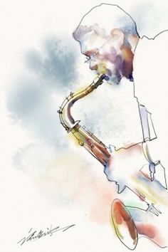 Kai Fine Art is an art website, shows painting and illustration works all over the world. Music Collage, Music Artwork, Art Music, African American Art, American Artists, Jazz Painting, Jazz Art, Jazz Musicians, Watercolor Art