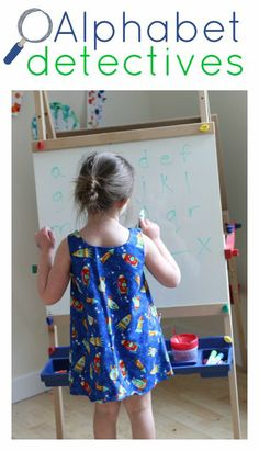 """Play """"Alphabet Detectives"""" with your child -- a simple game to enhance letter recognition and formation. Find out more in our #RaiseaReader blog."""