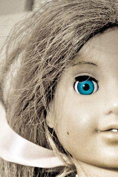 Doll eye, close up