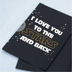 Font: In A Galaxy Far Away makes a great card for Star Wars lover