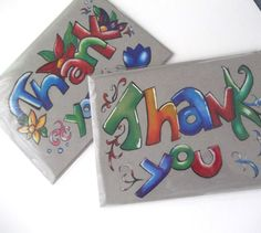 Thanks you cards series 2 Toned gray cards by Cpartshop on Etsy