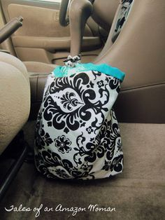 DIY Reusable Trash Can for your car