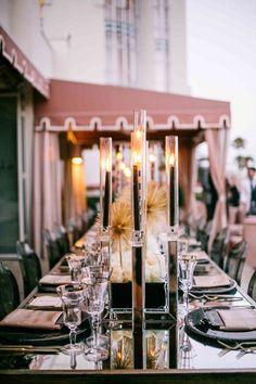 Sputnik sweetheart   Intimate dinner, black candles   White Lilac Inc.   Event Design for Weddings, Fashion, Social, Corporate.   www.whitelilacinc.com