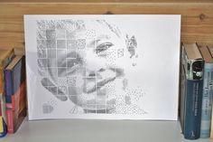 (oc) Pen plotter mosaic drawings