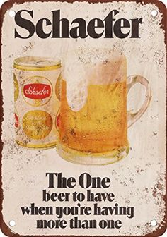 1975 Schaefer Beer Vintage Look Reproduction Metal Sign * Check out the image by visiting the link.