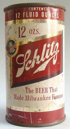 Schlitz beer will always be a happy memory when dad and mom opened a can and split it 5 ways with a T-Bone steak and baked potato!