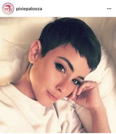 Very-Short-Pixie-Haircut Pixie Hairstyles for the Best View Short Pixie Haircuts, Short Hair Cuts, Stylish Hair, Pixies, Fine Hair, Hair Trends, Hair Inspiration, My Hair, Curly Hair Styles