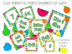 Tutti Frutti: Fruit Salad Addition Can't wait to buy and play with my kiddos!