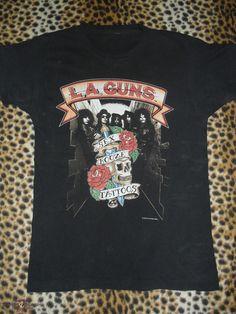 L.A. Guns shirt Cocked & Loaded Tour 89-90 #LAGuns