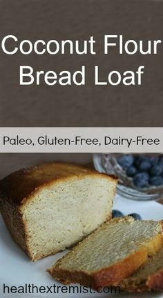 Coconut Flour Loaf Bread Recipe.   This is first coconut flour recipe that I really like!  Double the recipe for a normal size loaf.  This would be a great base for all quick breads.  Just add zucchini, banana, pumpkin etc.  (Paleo and Gluten-free)