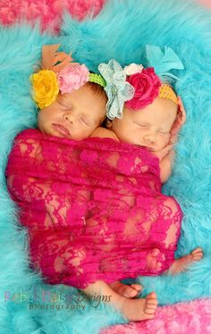 These are our nursery colors, and this is such an adorable picture. Makes me think of what my baby girls will look like :)