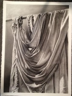 drapery drawing by traditional art drawings still life 2013 . Ap Drawing, Still Life Drawing, Painting & Drawing, Drawing Ideas, Texture Drawing, Matte Painting, Texture Art, Drawing Tips, Drapery Drawing