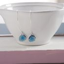 Faceted Glass Raindrop Earrings