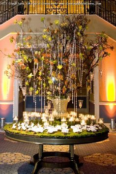 could do a combo of the hanging tree with the moss seating chart together, i like