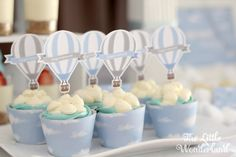 Cupcakes from a Hot Air Balloon Birthday Party via Kara's Party Ideas | KarasPartyIdeas.com (9)